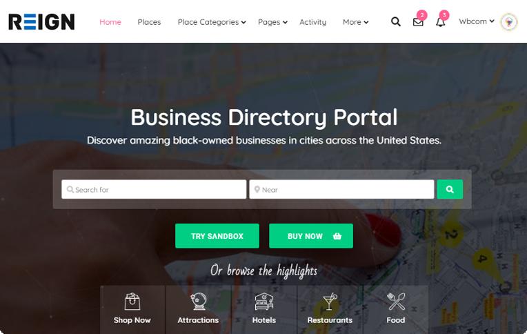 Reign GeoDirectory BuddyPress