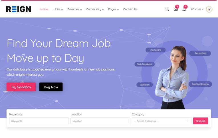 Reign JobMate BuddyPress